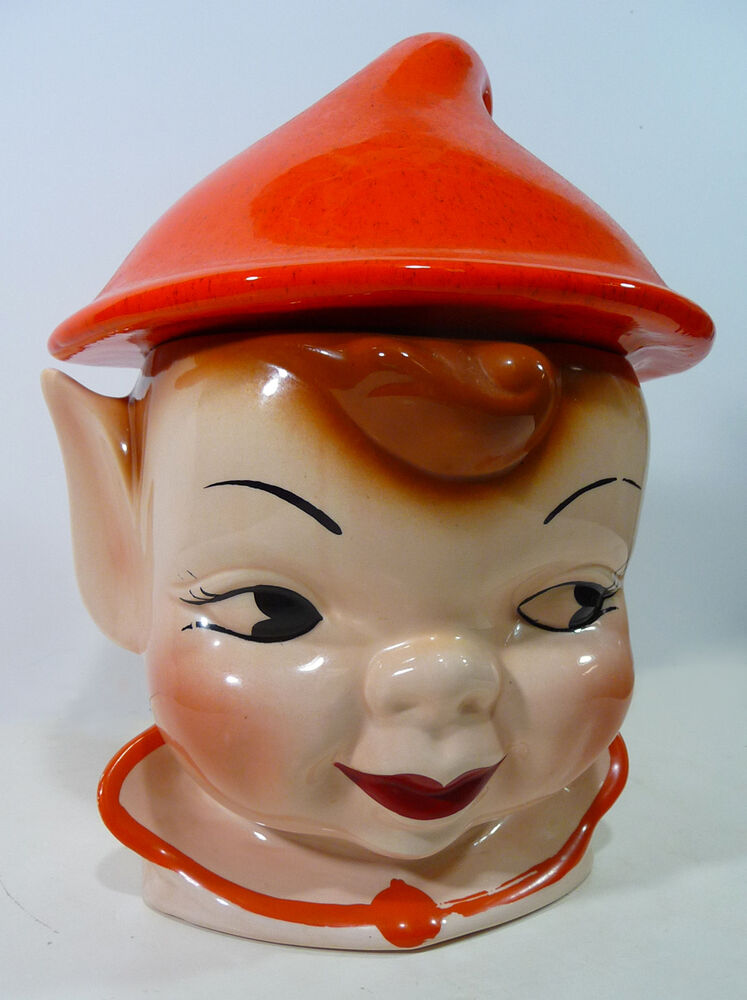 Vintage Elf Cookie Jar 1950s California Originals Ceramic