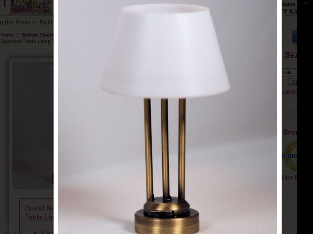 dollhouse miniature lighting battery operated new yorker modern table lamp ebay. Black Bedroom Furniture Sets. Home Design Ideas