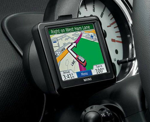 new oem mini cooper portable garmin navigation with. Black Bedroom Furniture Sets. Home Design Ideas