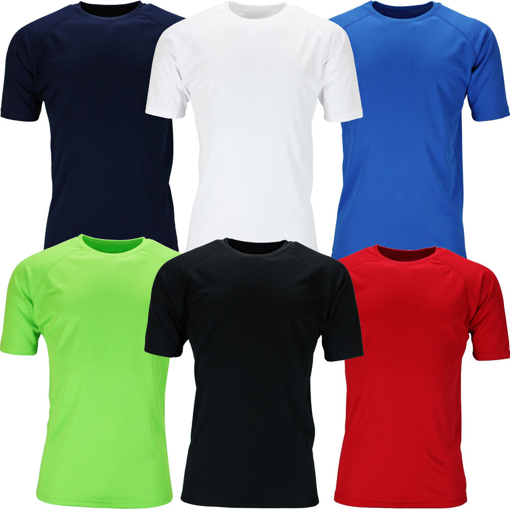 New mens breathable t shirt wicking cool dry running gym for Best fitness t shirts
