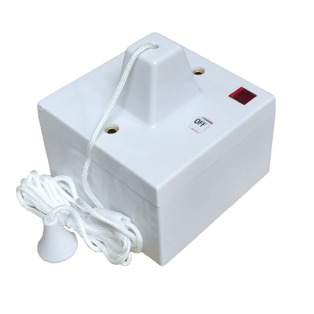 Shower Ceiling Pull Cord Switch Amp Pattress Box 45 Amp