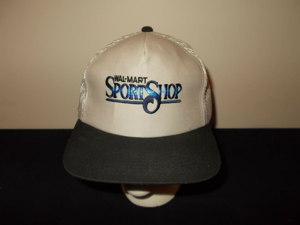 Vtg 1990s walmart sport shop fishing bass outfitters mesh for Fishing hats walmart
