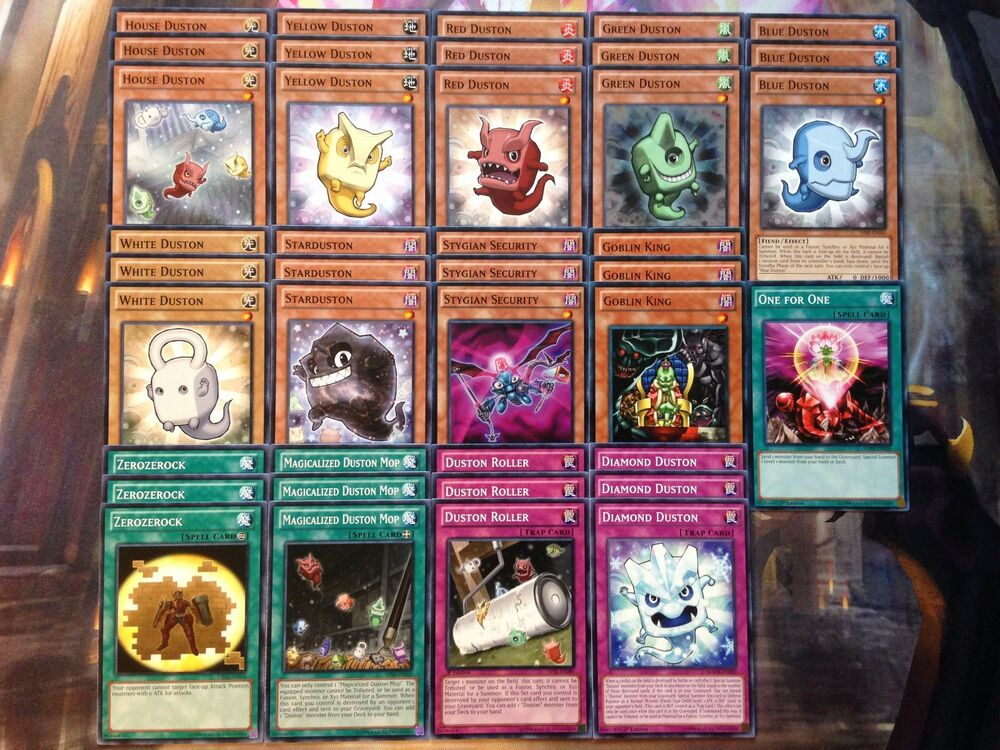 Yugioh Tournament Ready To Play Budget Duston 40 Card OTK Deck ...