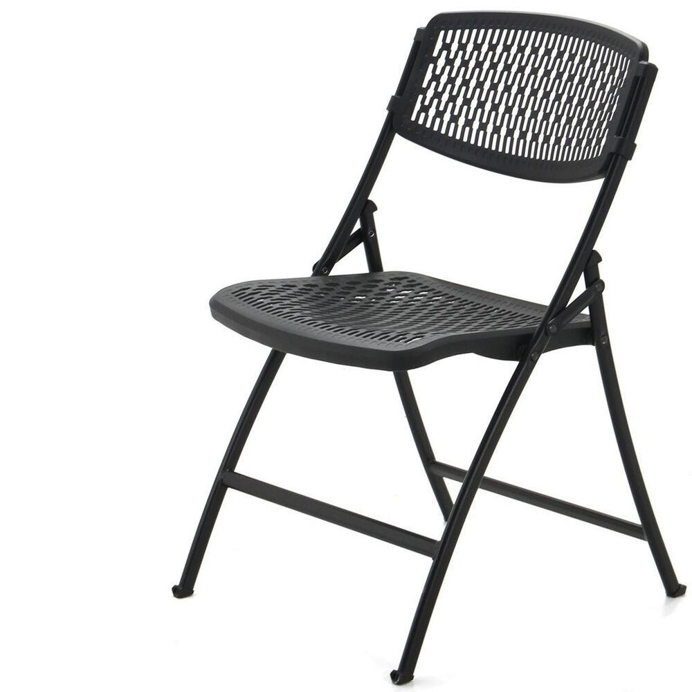 BLACK MITY LITE FLEX ONE FOLDING CHAIR INDOOR OUTDOOR