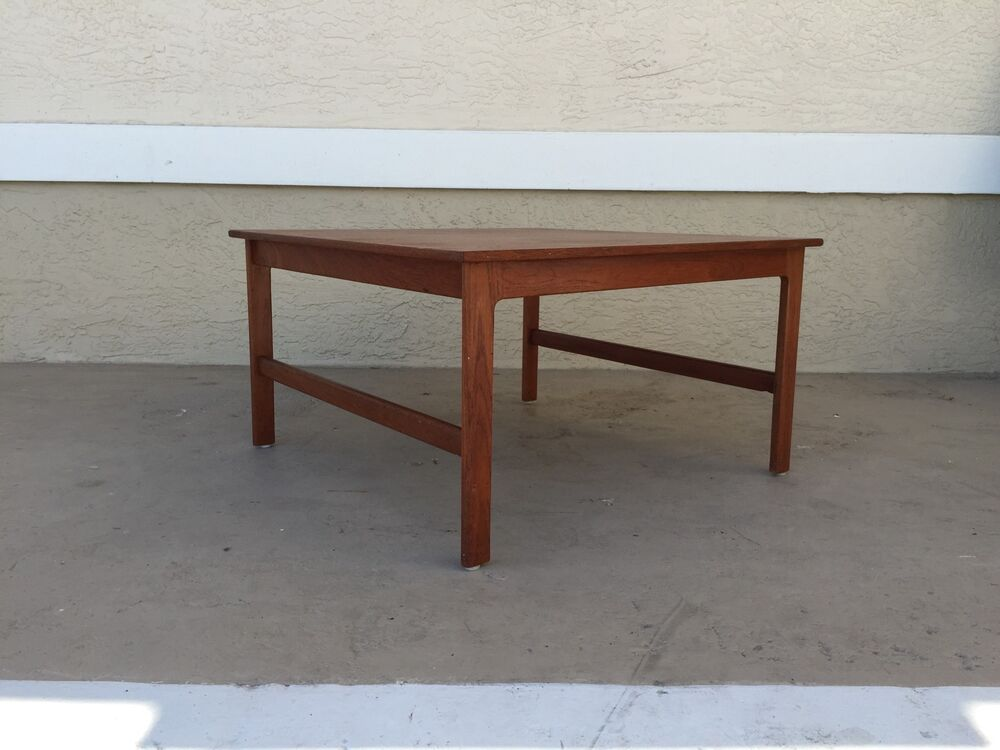 mid century danish modern squared teak end table by dux ebay