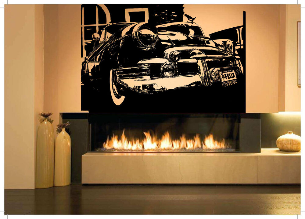 Vintage Auto Wall Decor : Wall room decor art vinyl sticker mural decal retro car