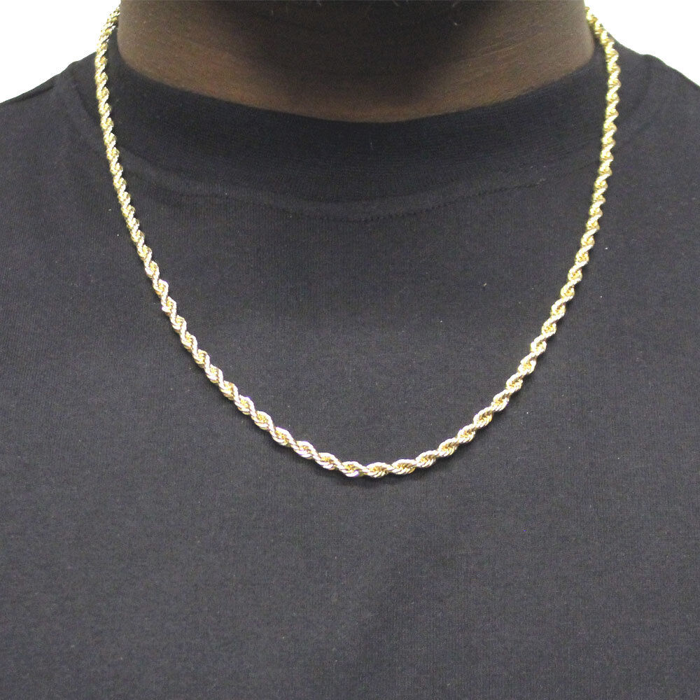18k Gold Plated Run Dmc Hip Hop Rope Chain Dookie 4mm X 24