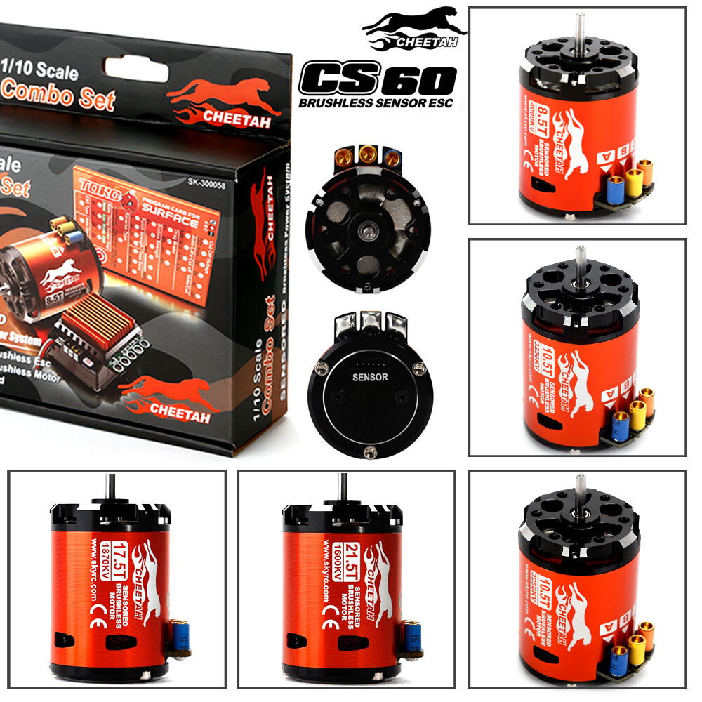 Skyrc cheetah 1 10 60a combo brushless motor regler sensor for 10 5 t brushless motor