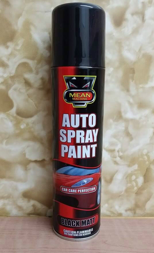 250ml black mat car spray paint auto large cars van auto. Black Bedroom Furniture Sets. Home Design Ideas