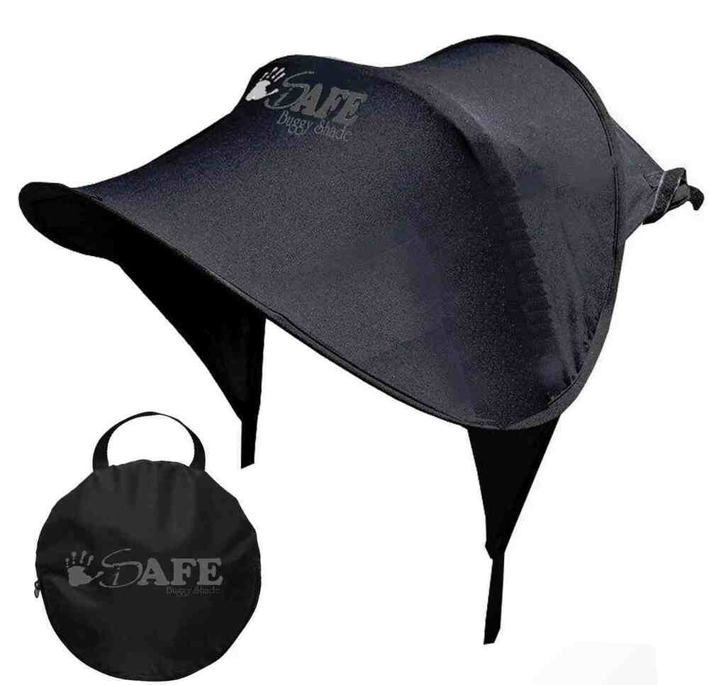sun canopy ray shade black upf50 for buggy pushchair pram stroller ebay. Black Bedroom Furniture Sets. Home Design Ideas