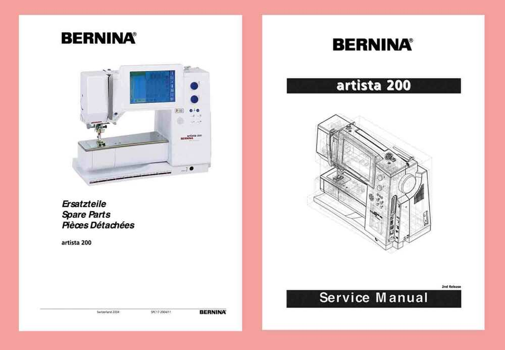 Bernina artista 200 choice of instructions service for Decor excel 5018