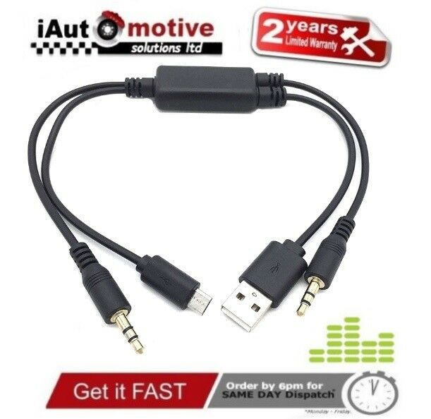 Bmw Amp Mini Micro Usb Aux Y Cable For Samsung Lg Htc Sony