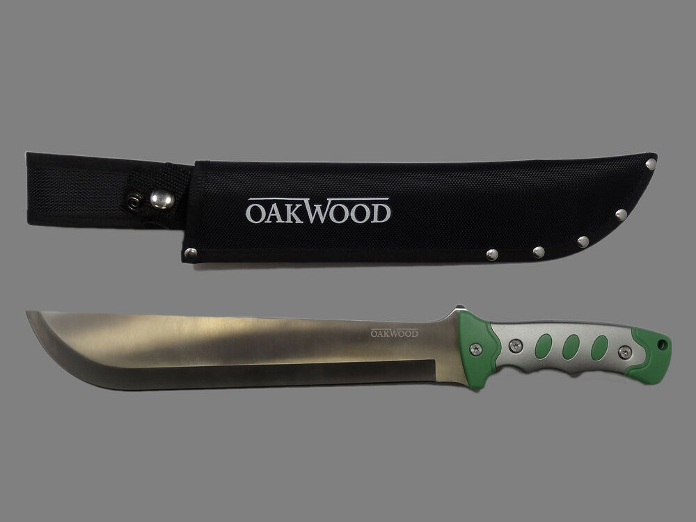 oakwood machete messer outdoor 42cm edelstahl klinge buschmesser nylonscheide ebay. Black Bedroom Furniture Sets. Home Design Ideas