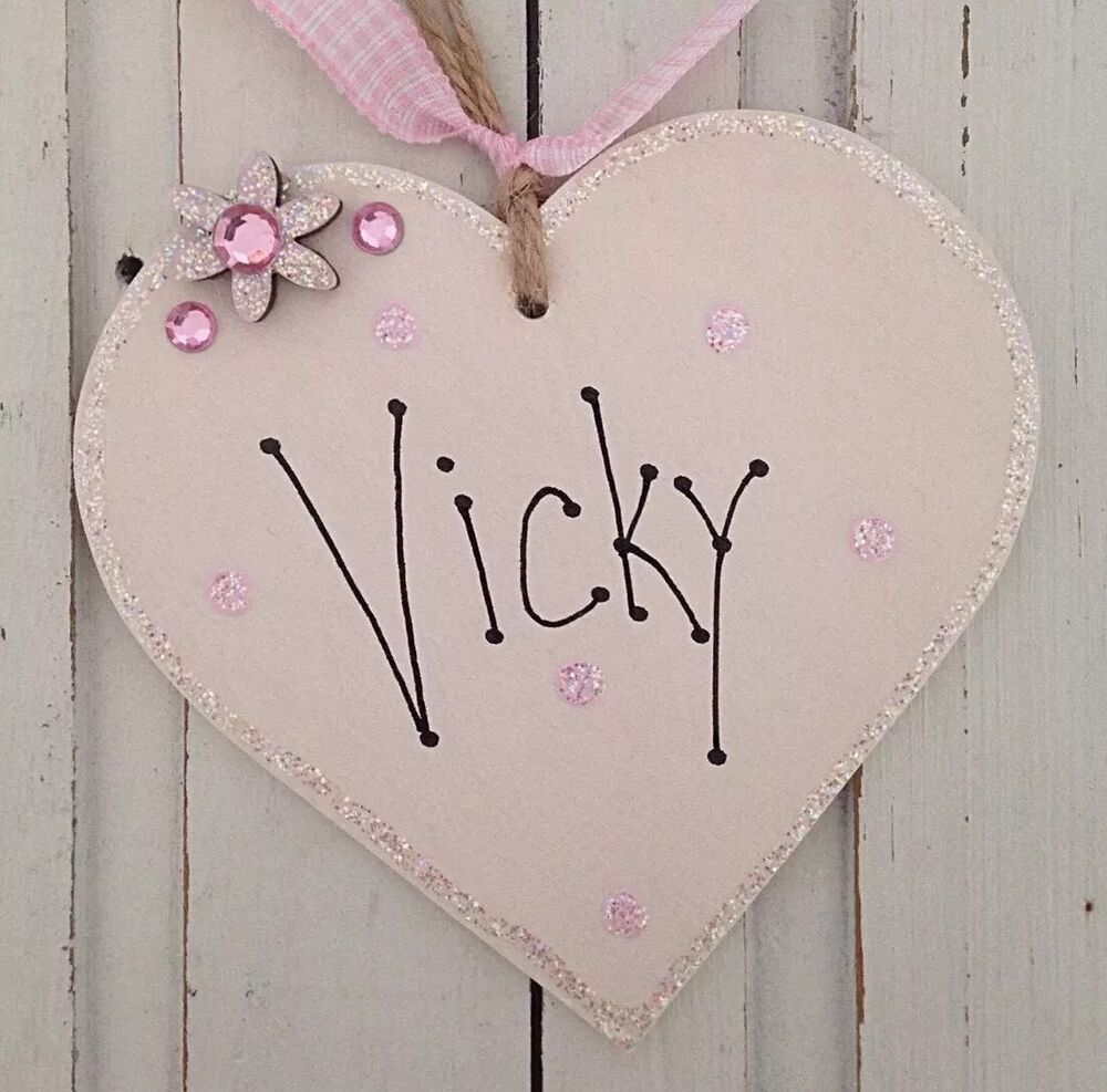 Baby Gift Name Plaque : Personalised name heart plaque baby girl boy children
