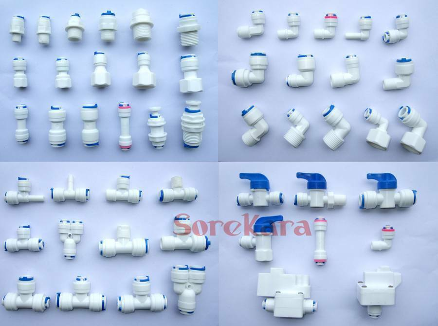 Quot push fit pipe fittings unit elbow tee y ball valve ro
