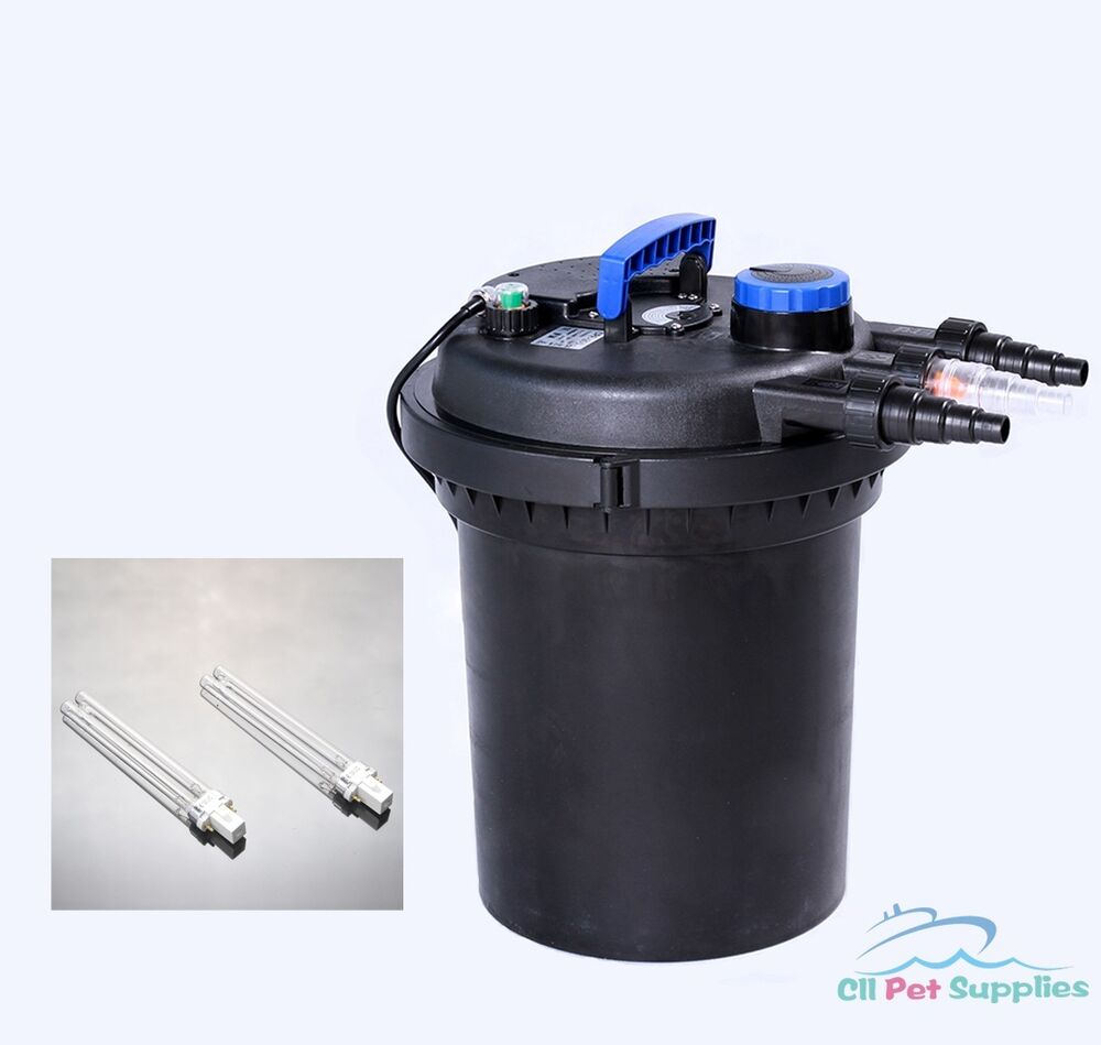 3000 gal pond filter w 13w uv sterilizer koi easy for Koi fish pond filter