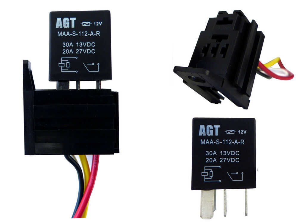 2pack 12v 30a relay & socket for electric fan fuel pump ... wiring diagram for 4 pin trailer connector