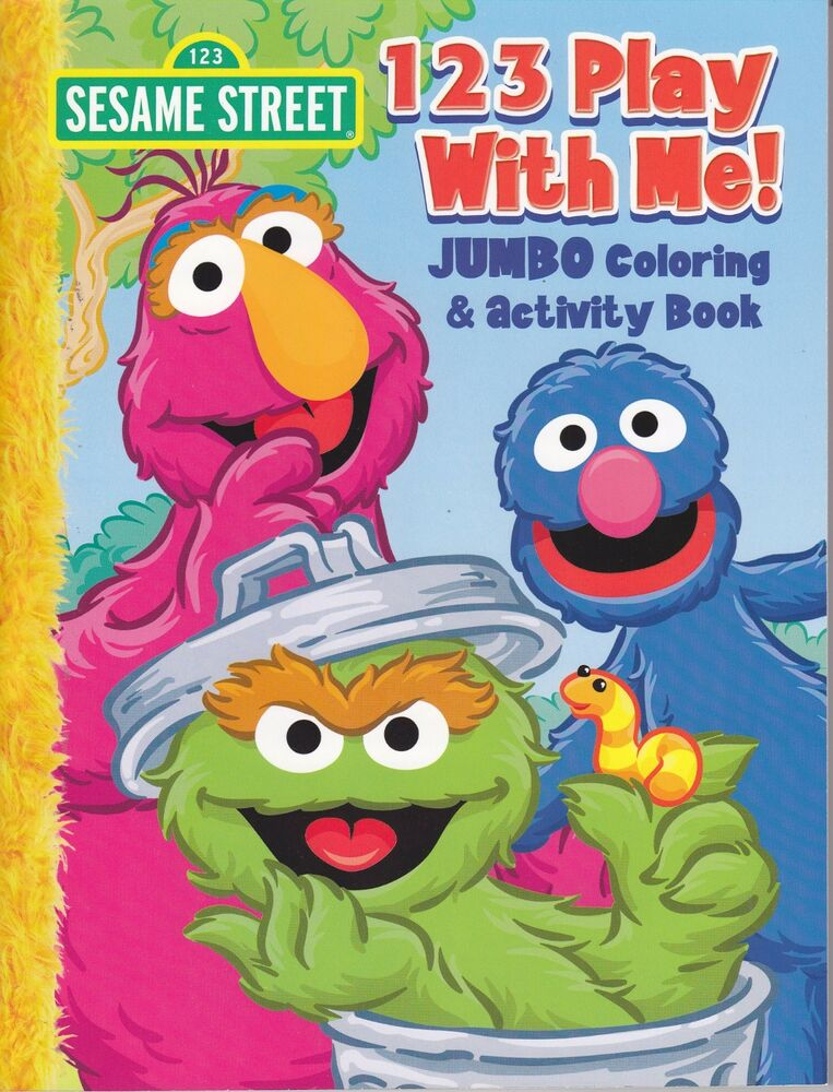 Sesame Street Coloring Book 123 Play With Me Oscar