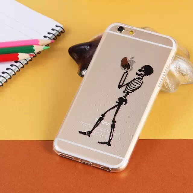 apple iphone case skeleton is apple logo iphone 6 6 plus phone soft 10110