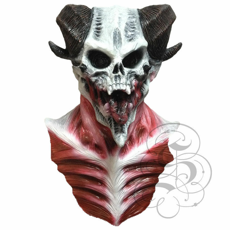 The Devil S Music De Maskers: Halloween Latex Devil Lord Skull With Chest Horror Dress