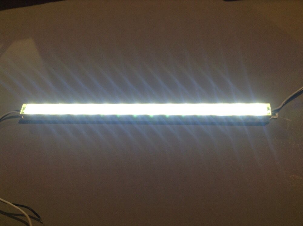 waterproof 24v led light bar12 strip white ip67 18 large leds ebay. Black Bedroom Furniture Sets. Home Design Ideas