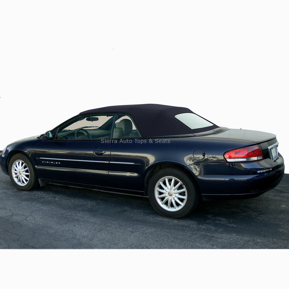 Fits: 2001-2006 Chrysler Sebring, Convertible Top W/Window