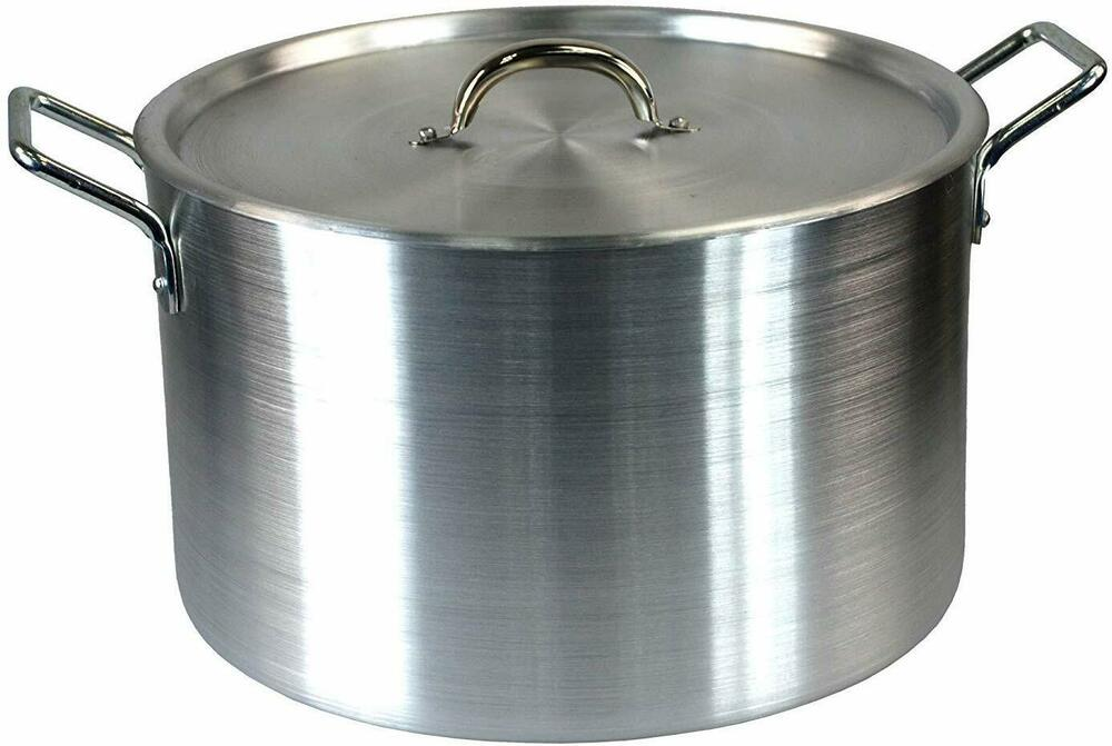 16 Quot Large Aluminium Cooking Saucepan Stock Stew Soup