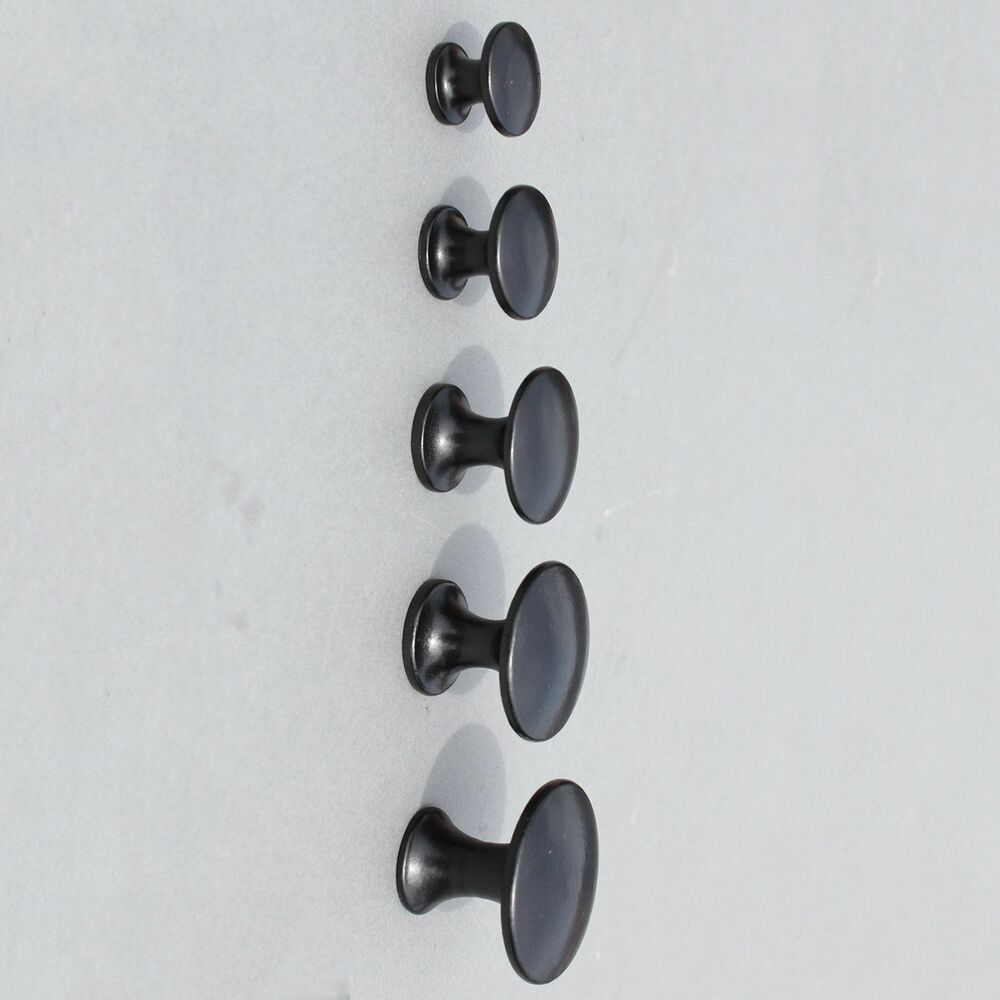 Cast Iron Black Cabinet Knobs Door Handles Kitchen