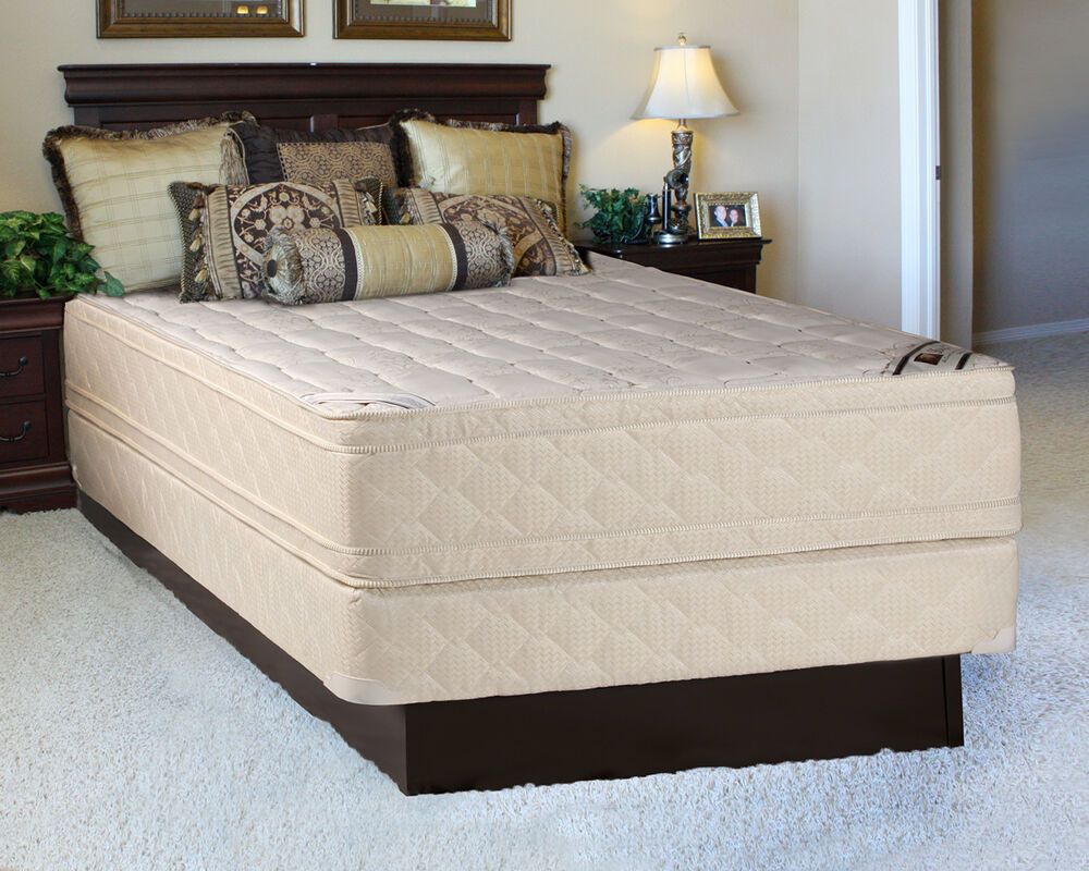 Extrapedic Jumbo Pillowtop Twin Size Mattress And Box Spring Set Ebay