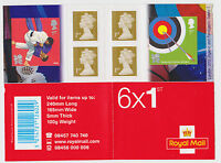 GB STAMP BOOKLET London 2012 Olympic & Paralympic Games  No. 1     6 x 1st Mint