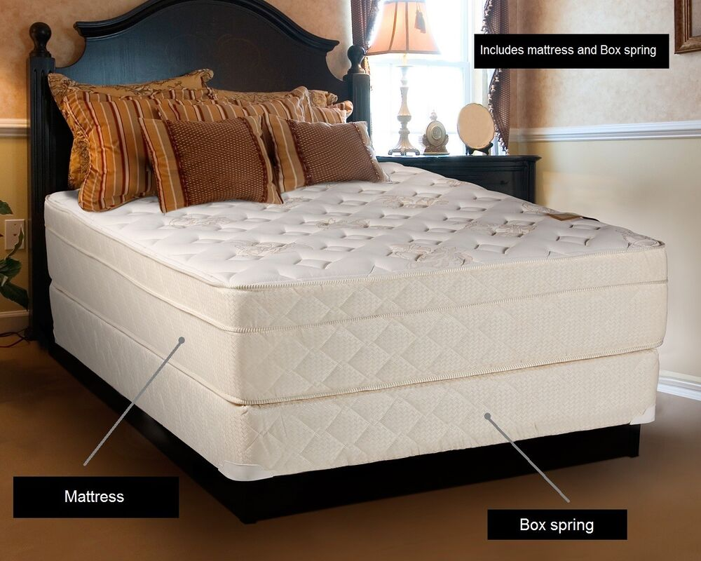 beverlly hills extra firm eurotop queen size mattress and. Black Bedroom Furniture Sets. Home Design Ideas