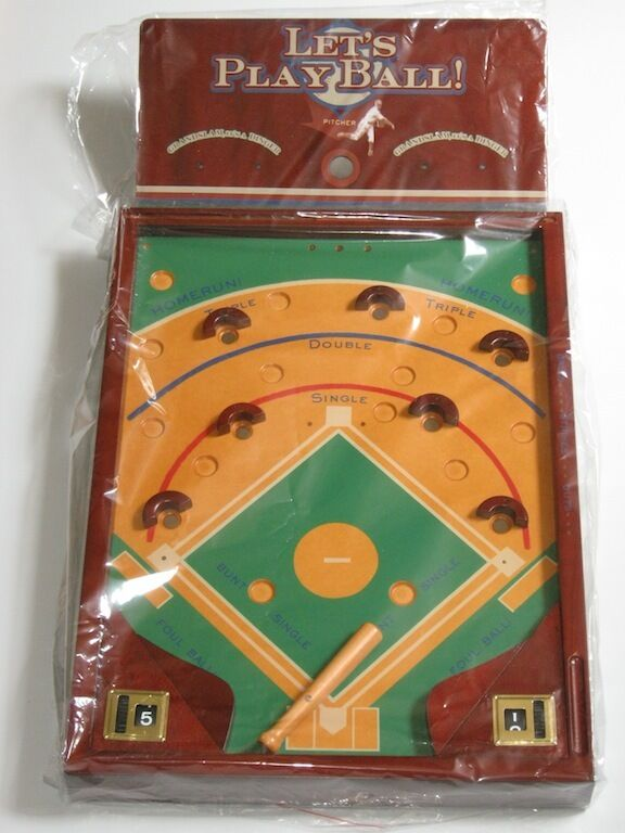 New Box Games : Quot lets play ball arcade baseball wooden table top