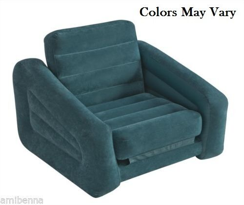 Pull Out Chair Convertible Sleeper Sofa Single Dorm Bed