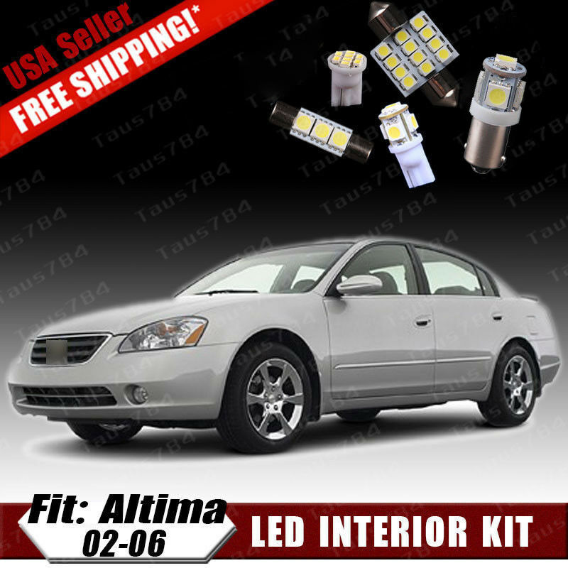 15 Pcs Xenon White Led Interior Package Kit For 2002 2006 Nissan Altima Gifts Ebay