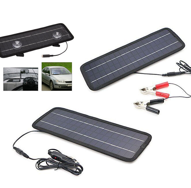solarladeger t smart 12v solarzelle solar batterieladeger t solarmodul 5w ladege ebay. Black Bedroom Furniture Sets. Home Design Ideas