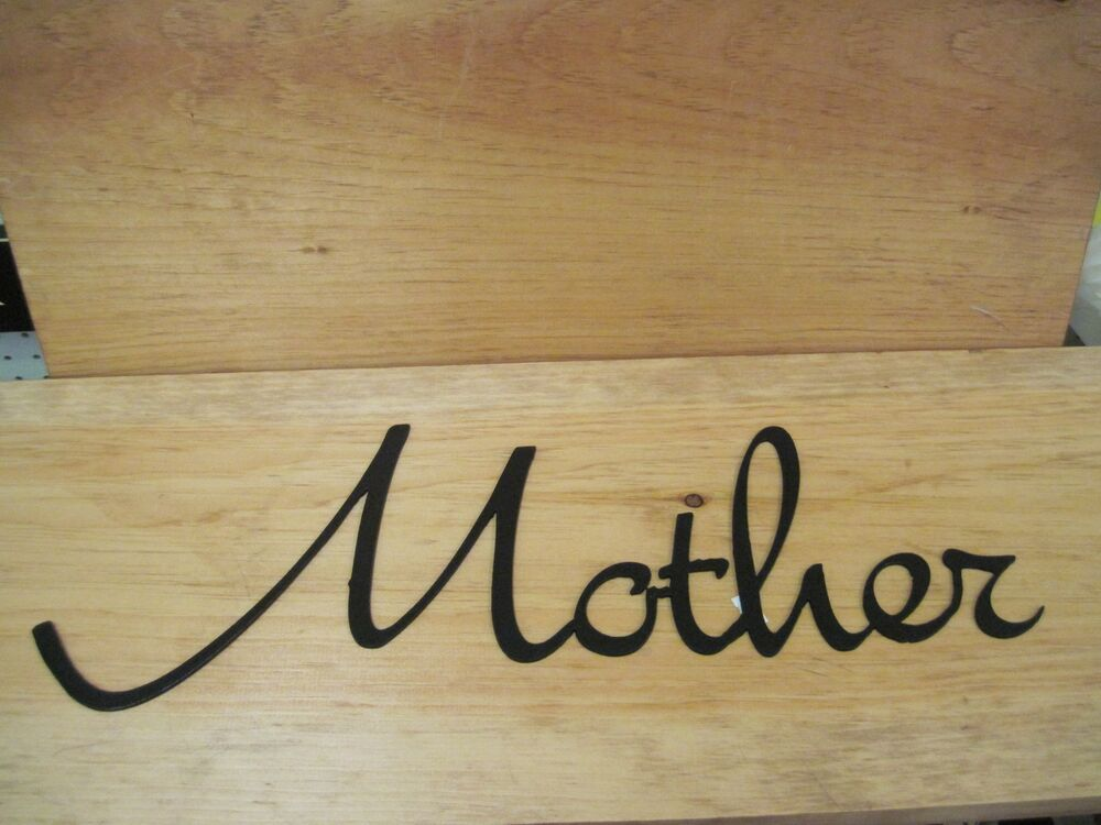 Mother-Black Wrought Iron Wall Art Metal Home Decor
