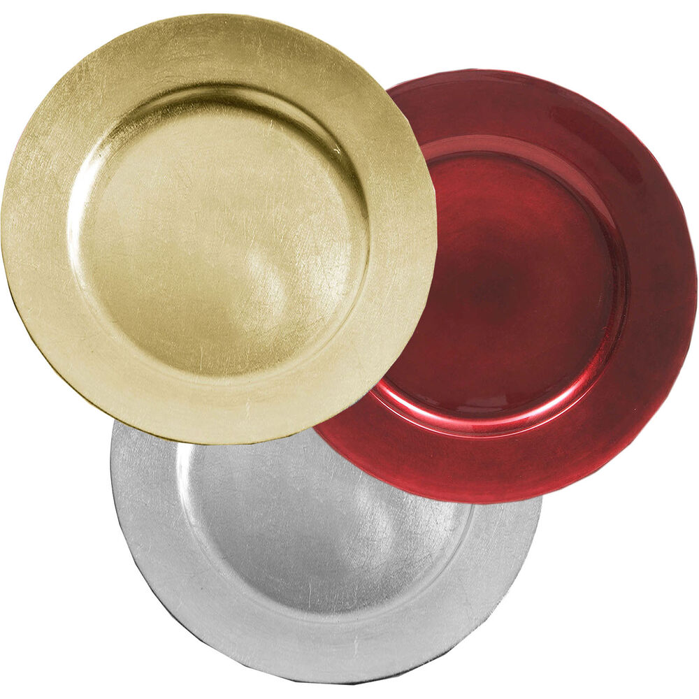 Red Gold Silver Charger Dinner Under Plate Wedding Serve