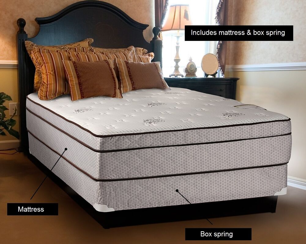 Fifth Avenue Extra Plush Eurotop Full Size Mattress And Boxspring Set Ebay