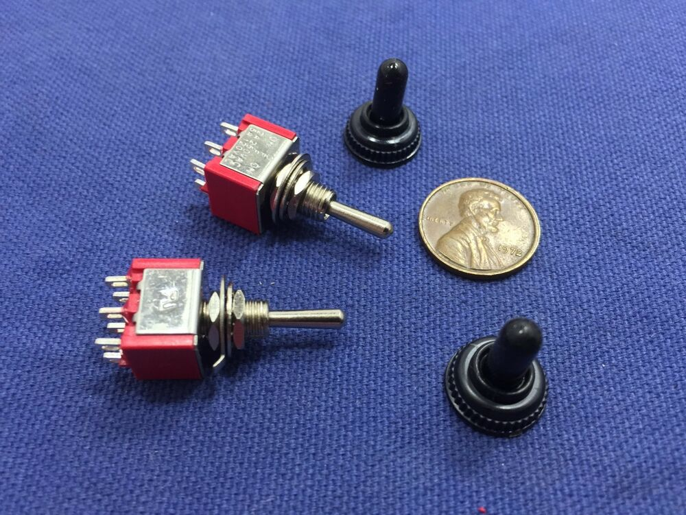 2 pieces red waterproof momentary mini toggle switch on. Black Bedroom Furniture Sets. Home Design Ideas