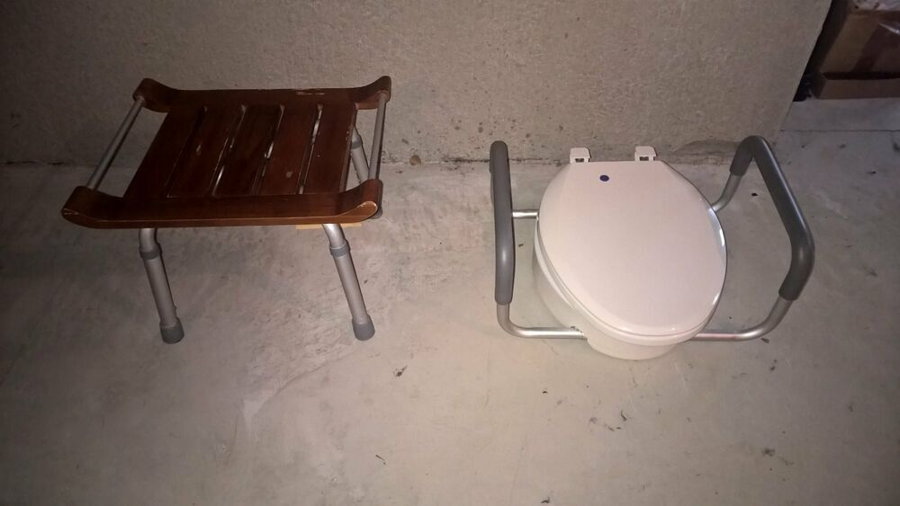 Handicap Toilet Seat And Shower Seat Ebay