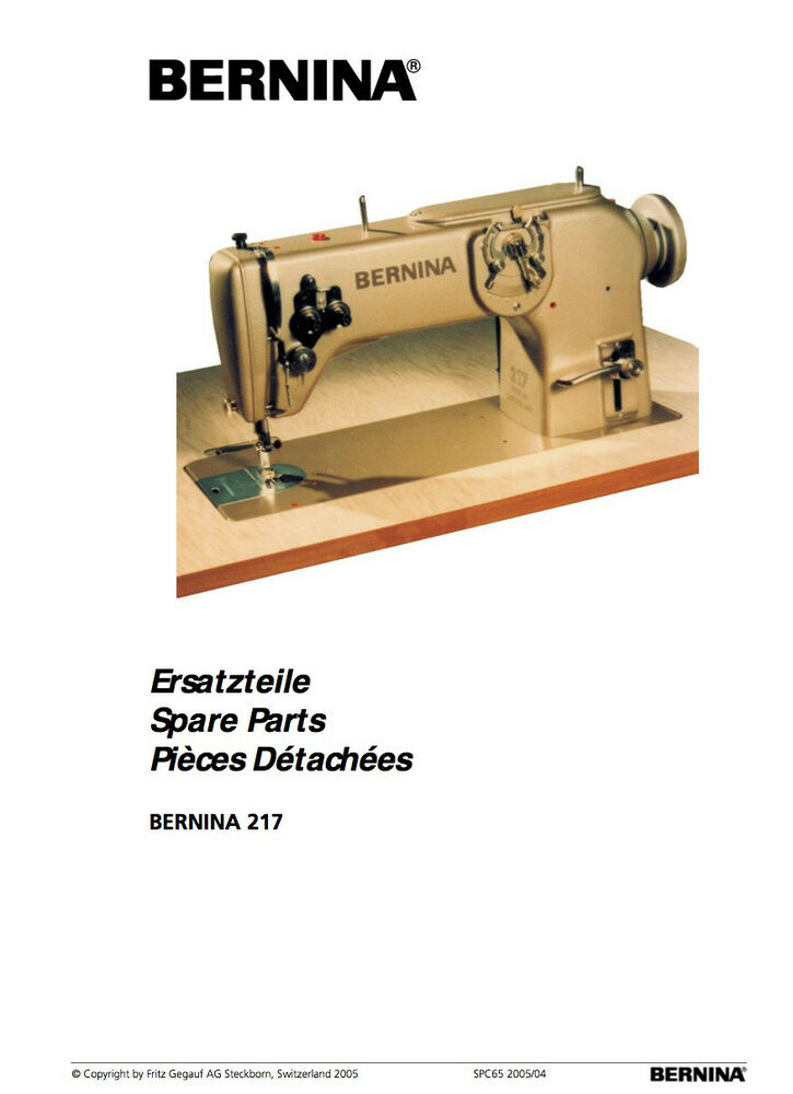 Bernina 217 217n  Choice Of Instructions Or Service Manual