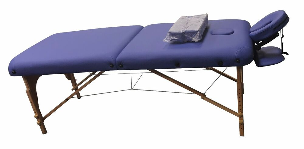 Heaven massage extra wide 3 portable folding massage table comfort series case ebay - How much is a massage table ...