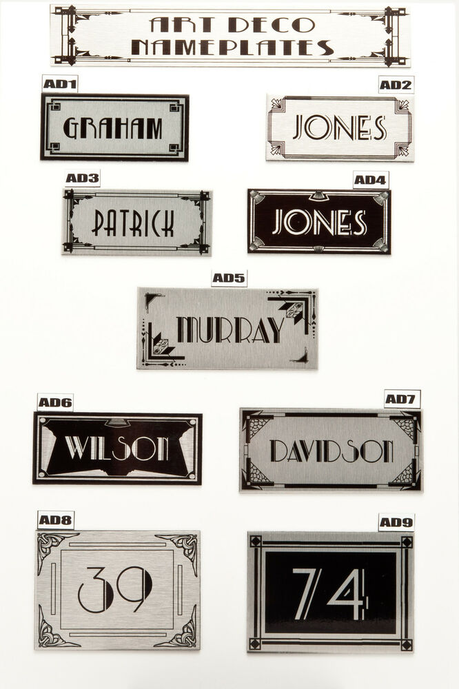 House sign plaque personalised name plate door number art for Classic house name plates