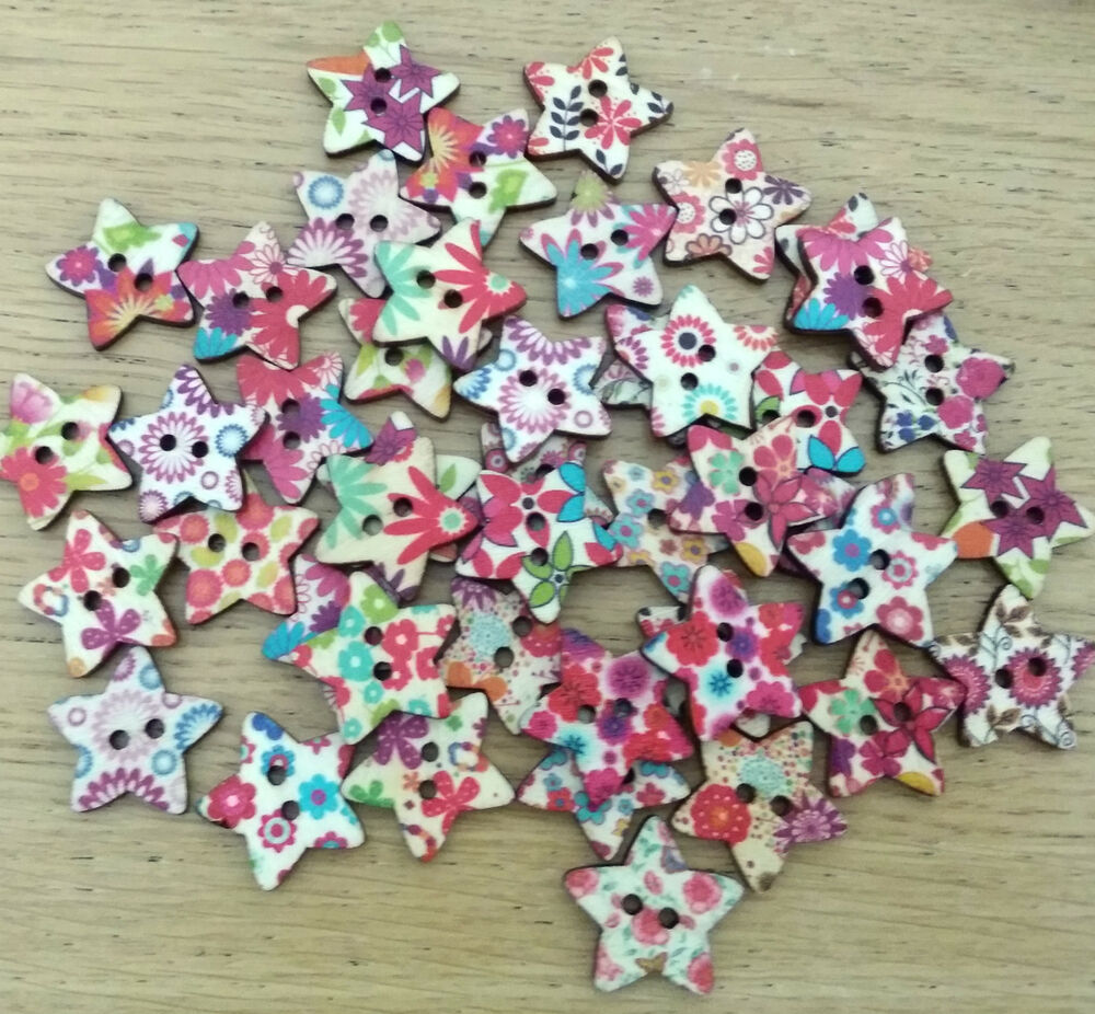 12x mixed pattern wooden buttons craft embellishments for Bulk arts and crafts