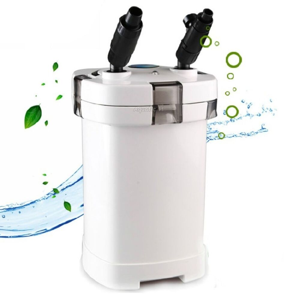 Turtle terrarium canister filter 265 gph low water level for Fish tank filtration