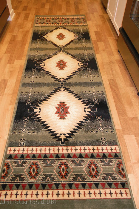 2x8 Runner Rug Southwest Southwestern Design Medallion