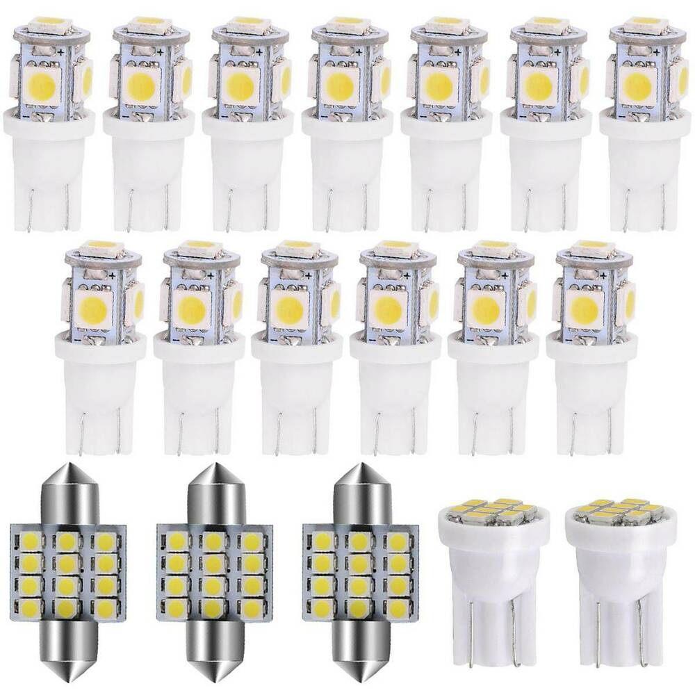 1999 Infiniti G Interior: 18PCS Pure White LED Interior Lights Package Kit For 2007