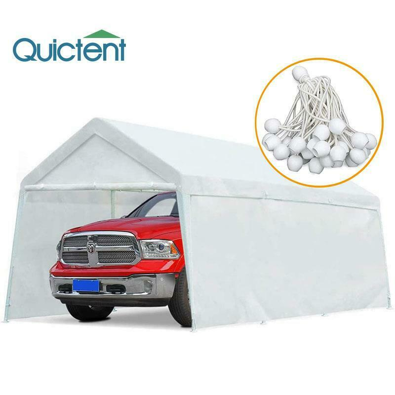 Quictent 20 x10 heavy duty carport garage car shelter for Carport ou garage