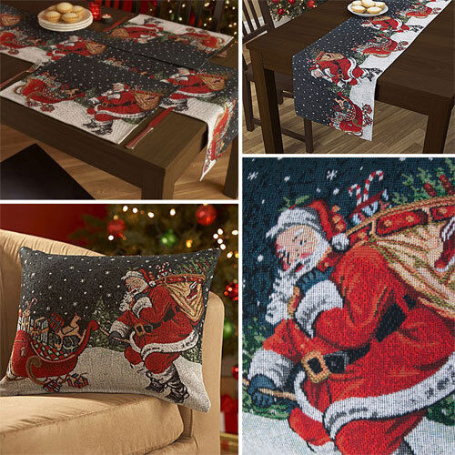 Santa Amp Sleigh Christmas Table Runners Placemats Or