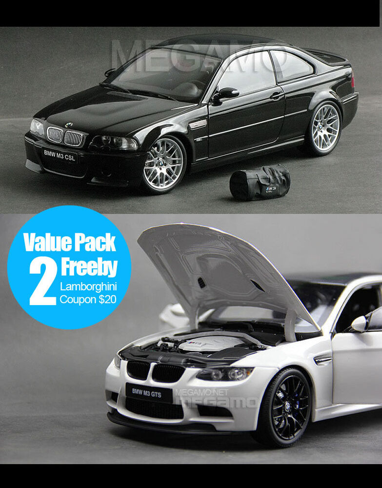 1 18 kyosho bmw e46 m3 csl black bbs e92 gts white free ship ebay. Black Bedroom Furniture Sets. Home Design Ideas